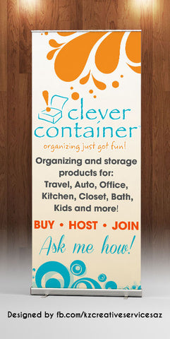 Clever Container Retractable Banner - Style 1