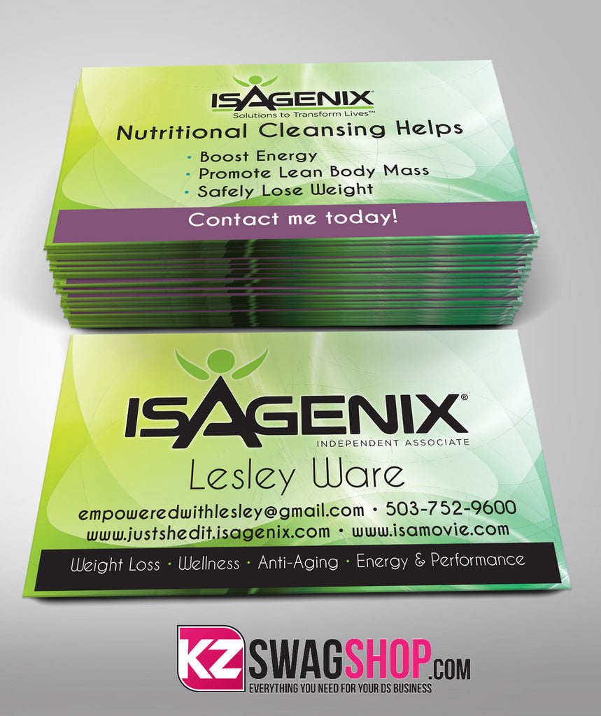 Isagenix Business Cards Style 2 – KZ Swag Shop