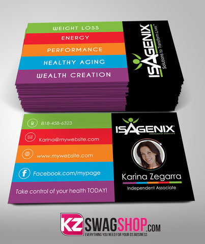 Isagenix Business Cards Style 4