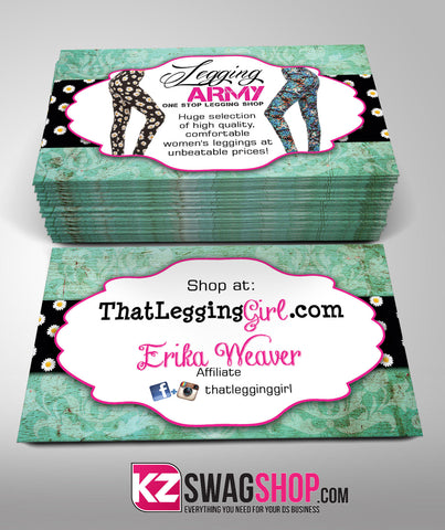 Legging Army Business Cards Style 1
