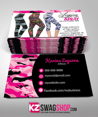 Legging Army Business Cards Style 2