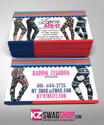 Legging Army Business Cards Style 3