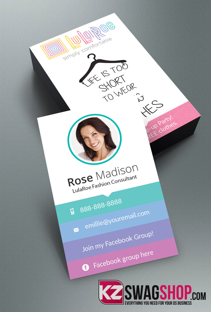 LulaRoe Business Cards Style 2 KZ Swag Shop
