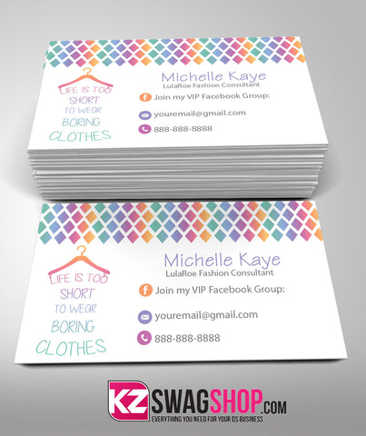 LulaRoe Business Cards Style 7
