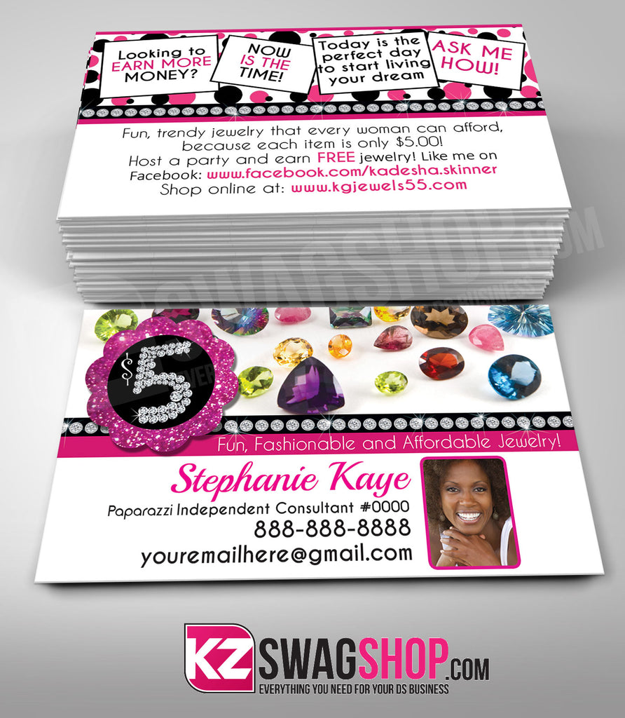 $5 Bling Jewelry Business Cards Style 10
