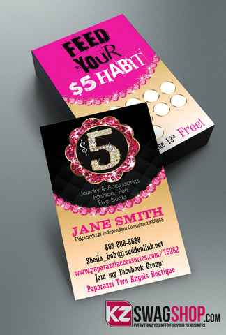 $5 Bling Jewelry Business Cards Style 11
