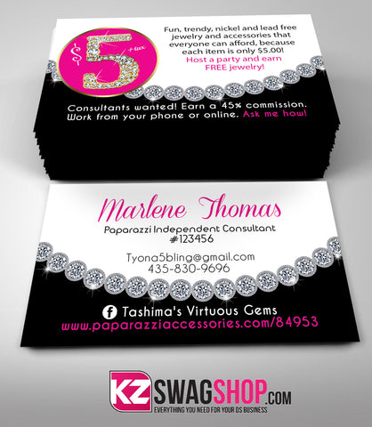 $5 Bling Jewelry Business Cards Style 12