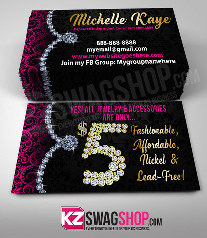 $5 Bling Jewelry Business Cards Style 16 - GLAM