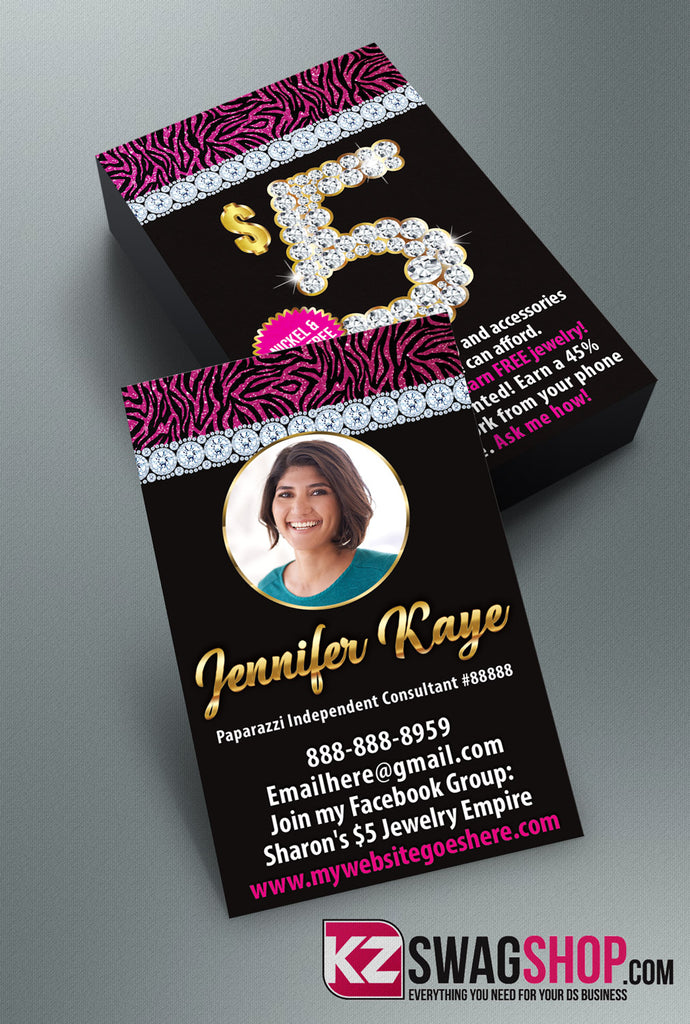 $5 Bling Jewelry Business Cards Style 18