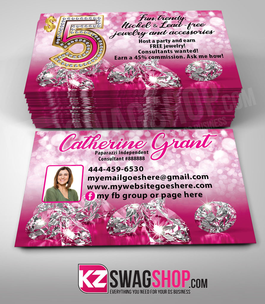 $5 Bling Jewelry Business Cards Style 19