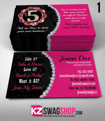 Paparazzi Jewelry Business Cards Style 1