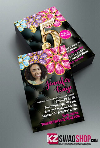 $5 Bling Jewelry Business Cards Style 21