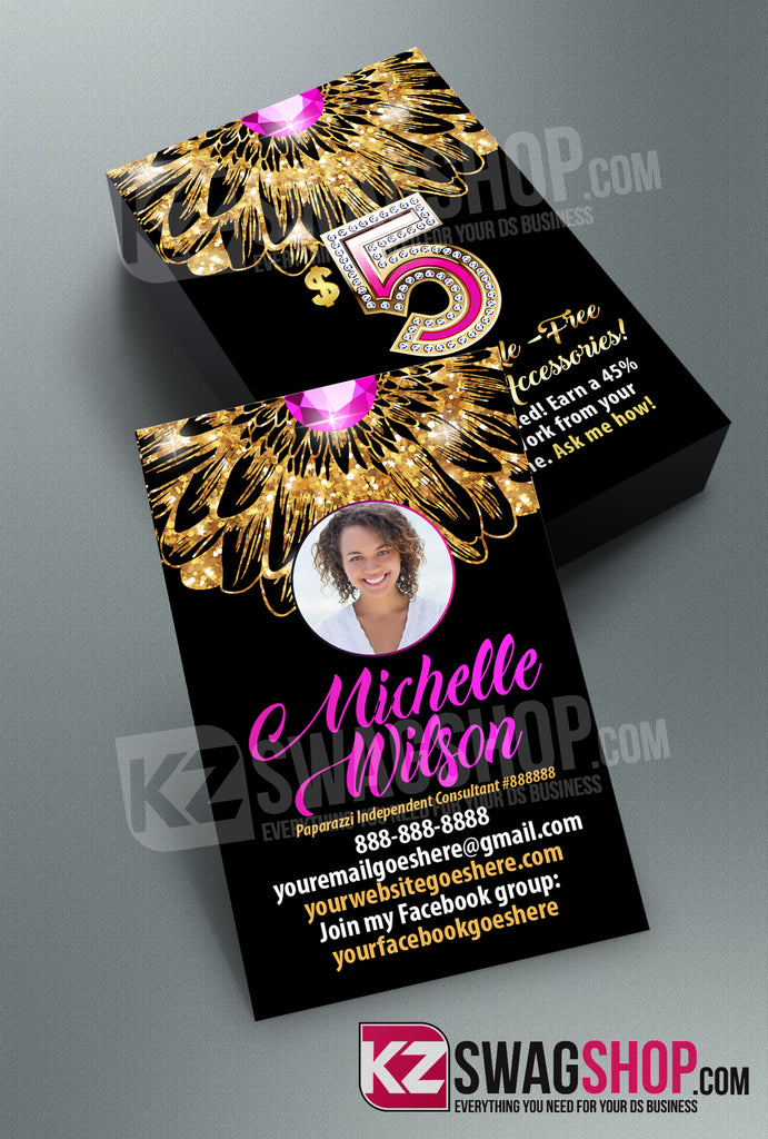 $5 Bling Jewelry Business Cards Style 28