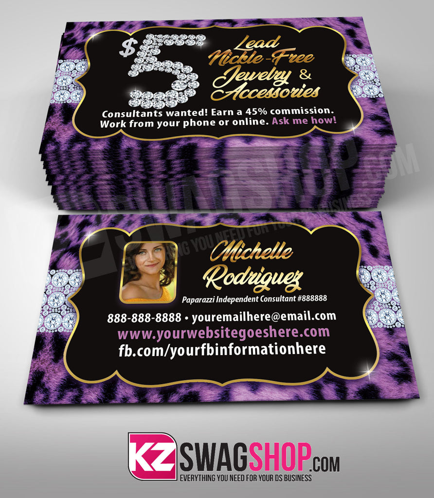 $5 Bling Jewelry Business Cards Style 32