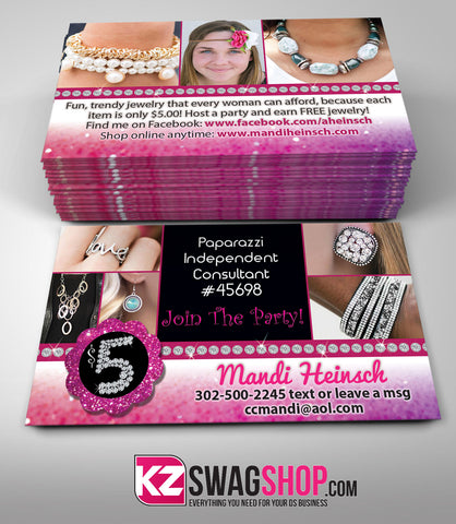 $5 Bling Jewelry Business Cards Style 4