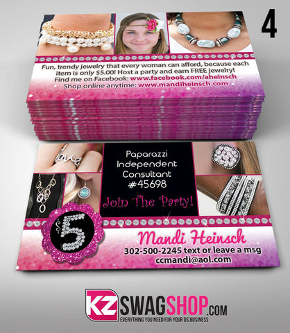 Paparazzi Jewelry Business Cards Style 4