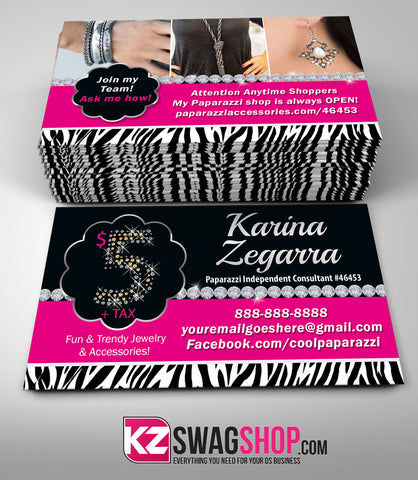$5 Bling Jewelry Business Cards Style 5