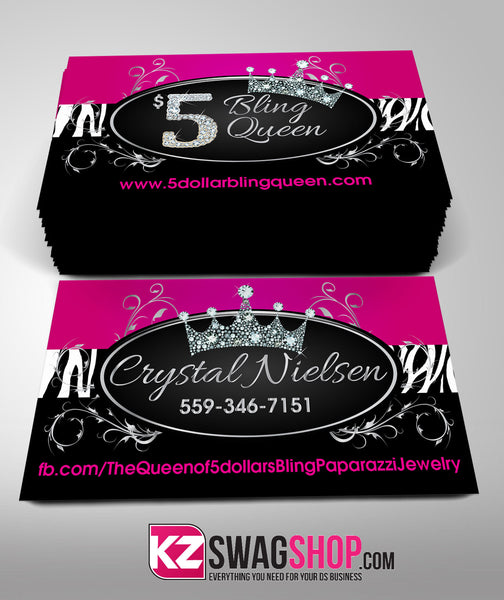 5 Bling Jewelry Business Cards Style 6 Kz Swag Shop