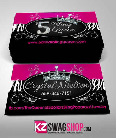 $5 Bling Jewelry Business Cards Style 6