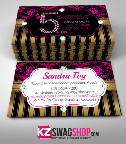 $5 Bling Jewelry Business Cards Style 7