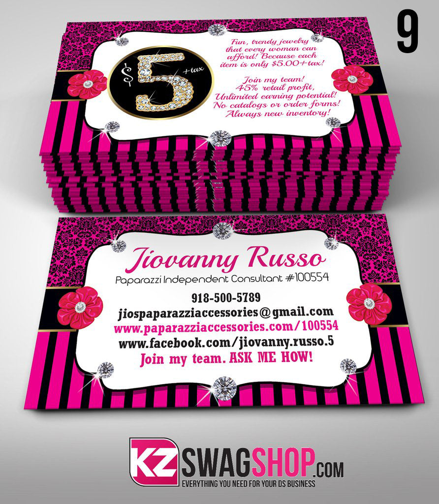 Paparazzi Jewelry Business Cards Style 9