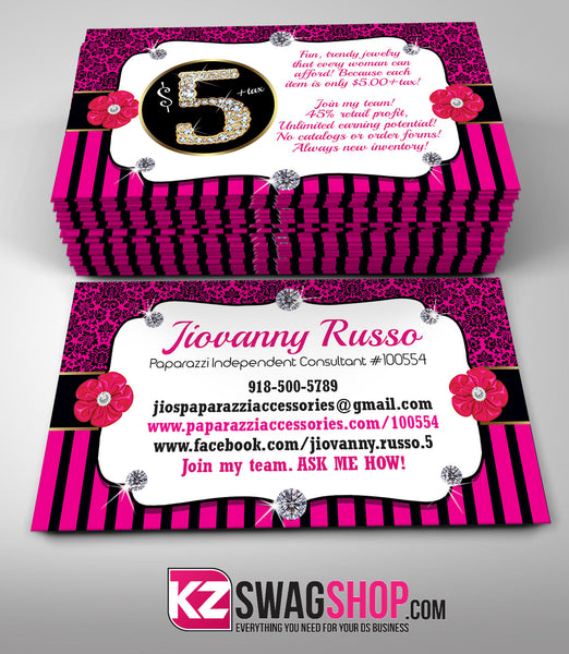 5 Bling Jewelry Business Cards Style 9 Kz Swag Shop