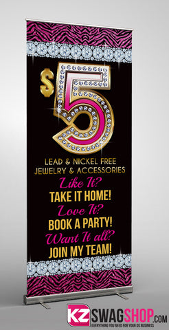 $5 Bling Retractable Banner style 10