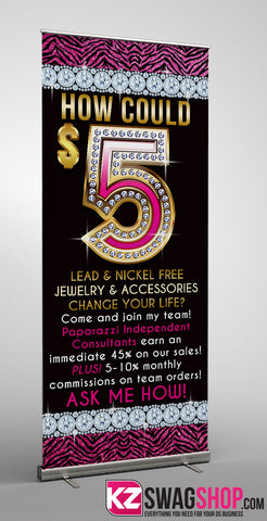 $5 Bling Retractable Banner style 11