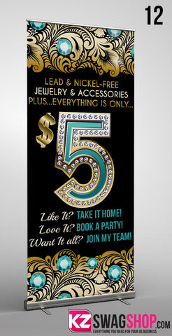 $5 Bling Retractable Banner style 12