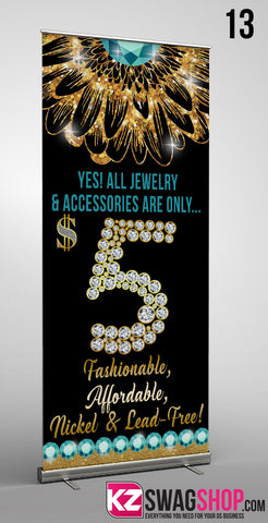 $5 Bling Retractable Banner style 13