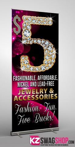 $5 Bling Retractable Banner style 1