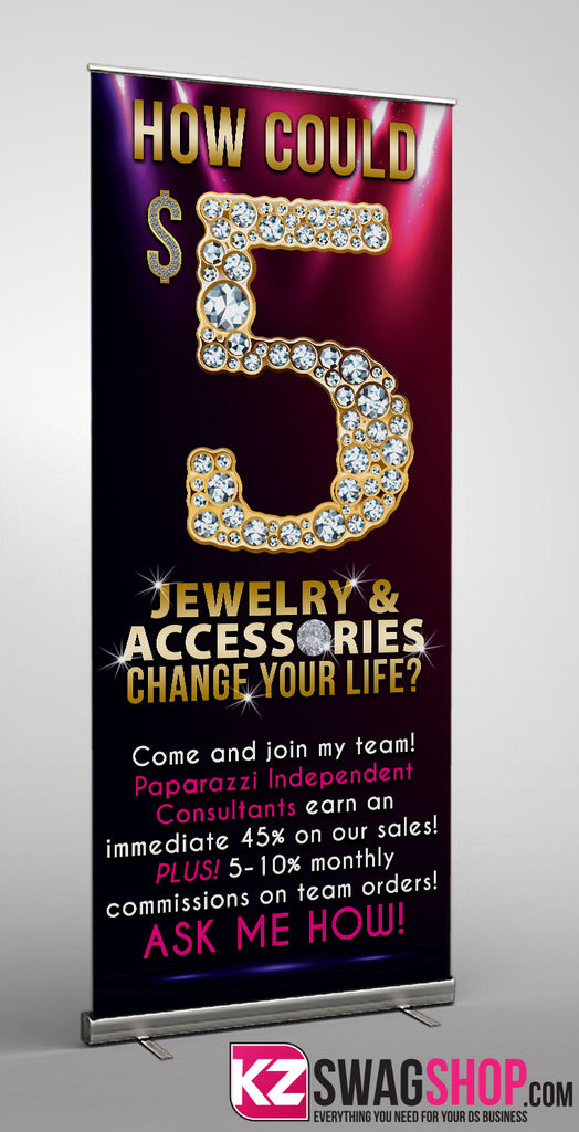 $5 Bling Retractable Banner style 2
