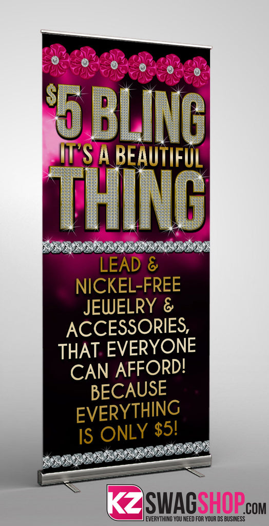 5 Bling Retractable Banner Style 3 Kz Swag Shop