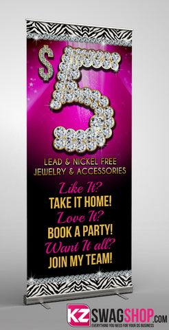 $5 Bling Retractable Banner style 6
