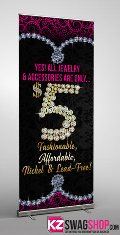$5 Bling Retractable Banner style 9