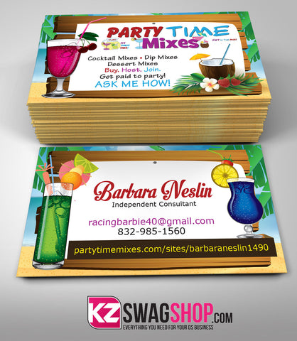 Party Time Mixes Business Card Style 1