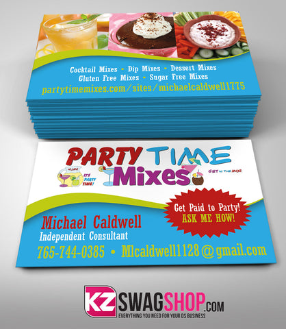 Party Time Mixes Business Card Style 2