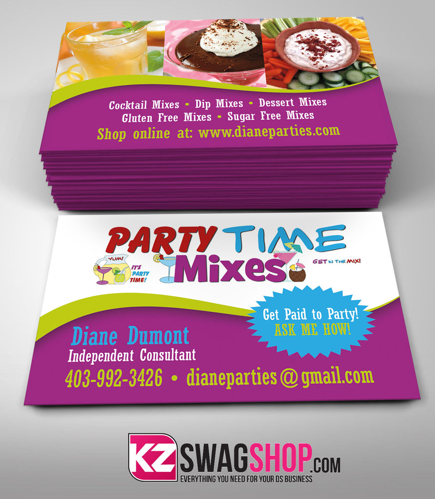 Party Time Mixes Business Card Style 3