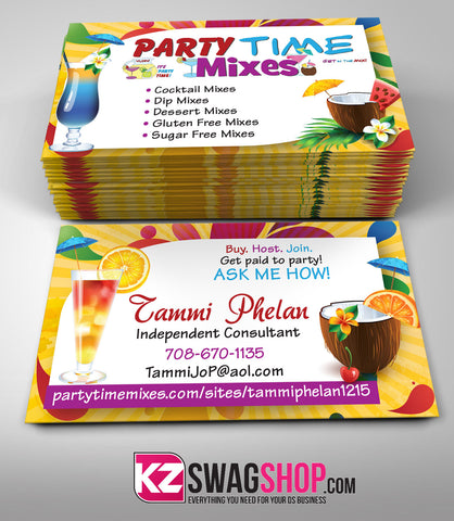 Party Time Mixes Business Card Style 4