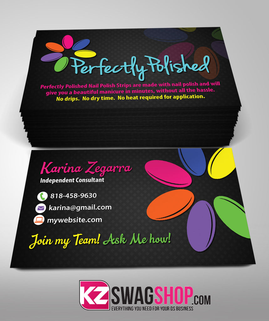 Perfectly Pollished Business Cards Style 1 – KZ Swag Shop