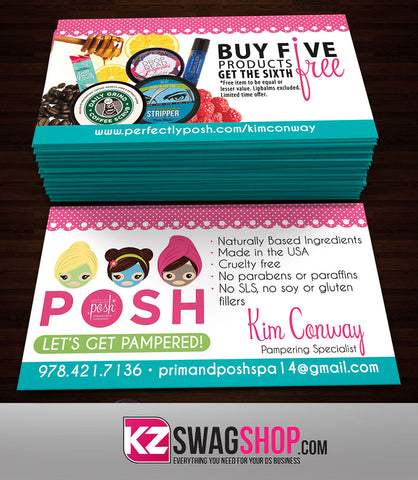 Perfectly Posh Business Cards Style 10