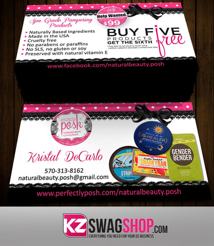 Perfectly Posh Business Cards Style 11