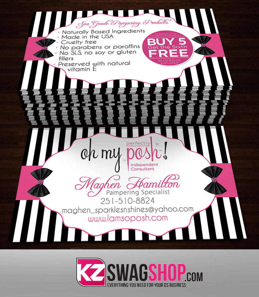 Perfectly Posh Business Cards Style 12