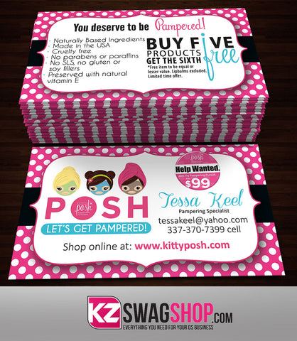 Perfectly Posh Business Cards Style 14