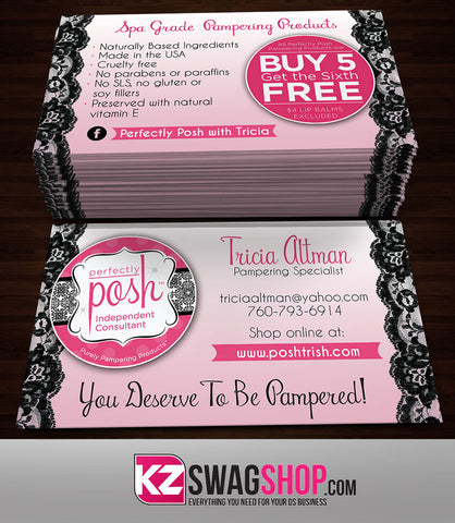 Perfectly Posh Business Cards Style 15 Kz Swag Shop