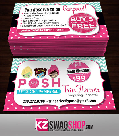 Perfectly Posh Business Cards Style 16