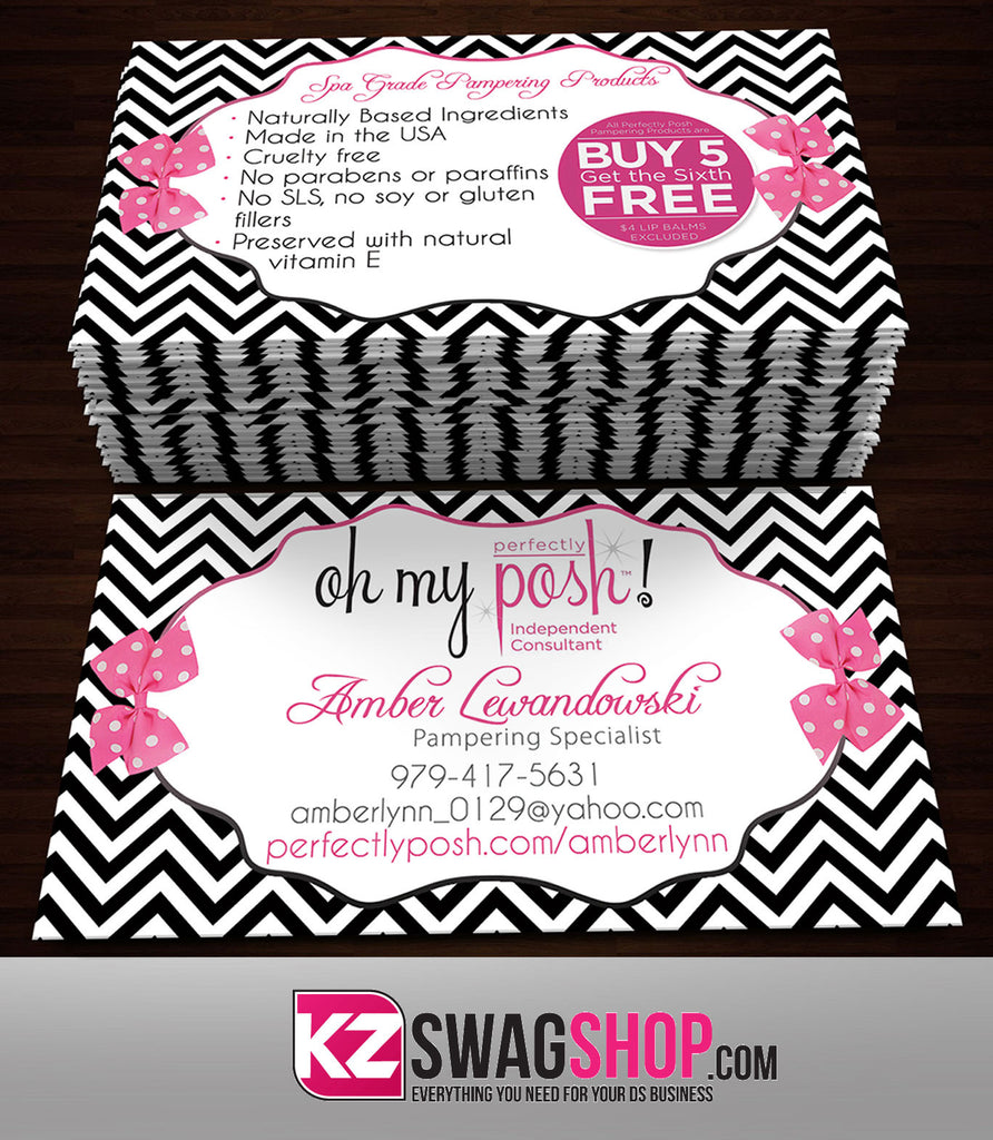 Perfectly Posh Business Cards Style 17