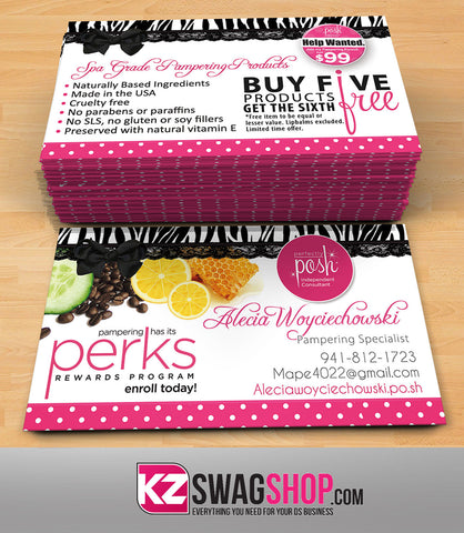Perfectly Posh Business Cards Style 18