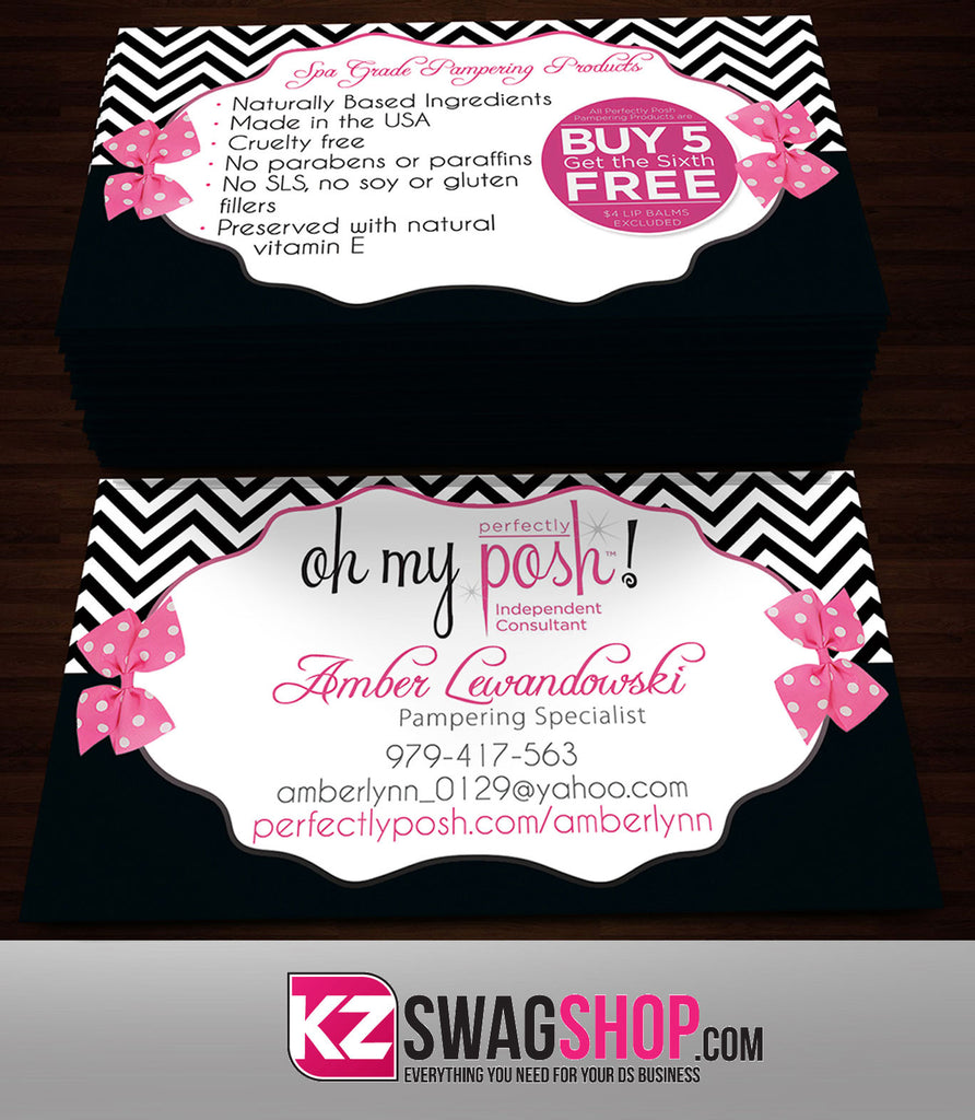 Perfectly Posh Business Cards Style 19 Kz Swag Shop