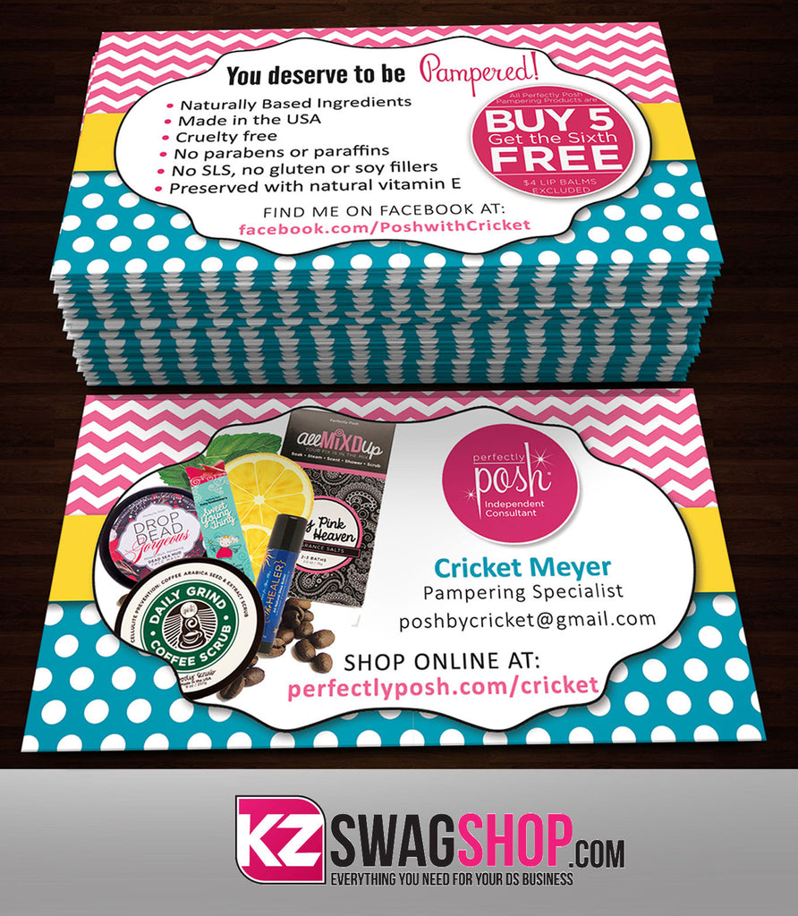 Perfectly Posh Business Cards Style 1